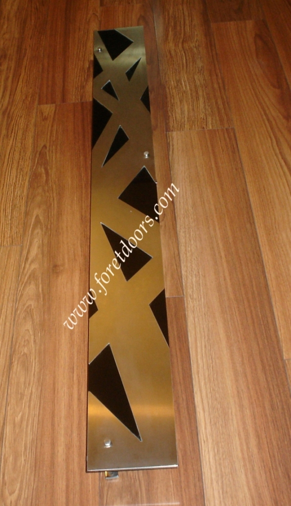 contemporary pull stainless steel and black glass