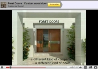 Video modern contemporary doors by Foret